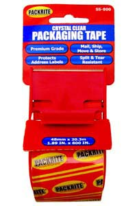 "PackRite - 2""x800"" Clear Tape in a dispenser with cutter"
