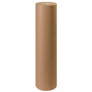 "24"" 40lb Brown Kraft Wrapping Paper Roll"
