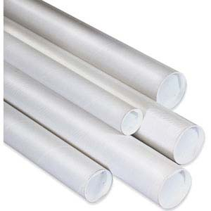 4x48 White Mailing Tubes with end caps